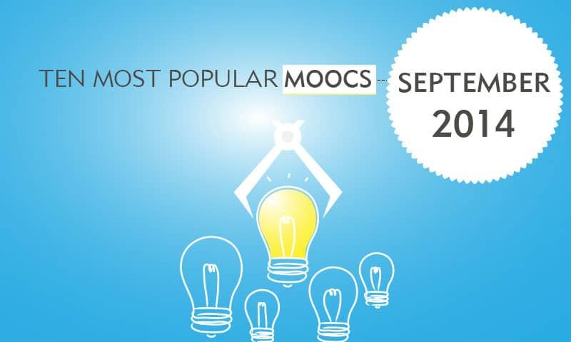Ten Most Popular MOOCs starting in September 2014