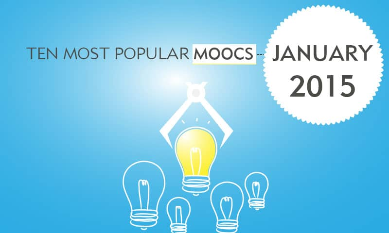 Ten Most Popular MOOCs - Jan 2015