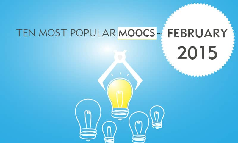 Ten Most Popular MOOCs in Feb 2015