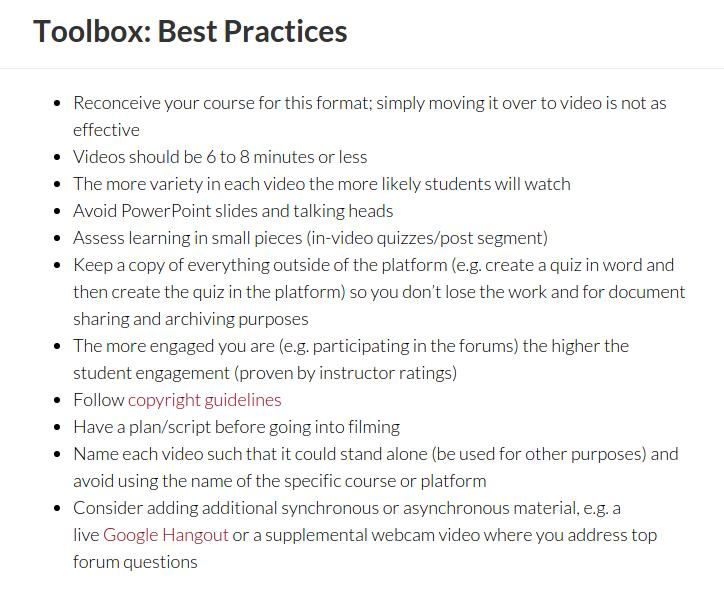 Penn Toolbox Best Practices