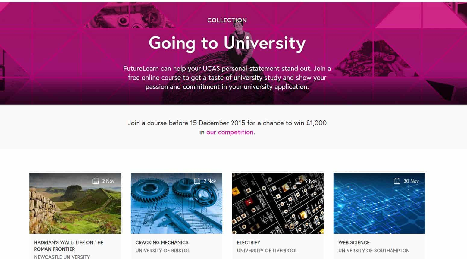 FutureLearn Going to University