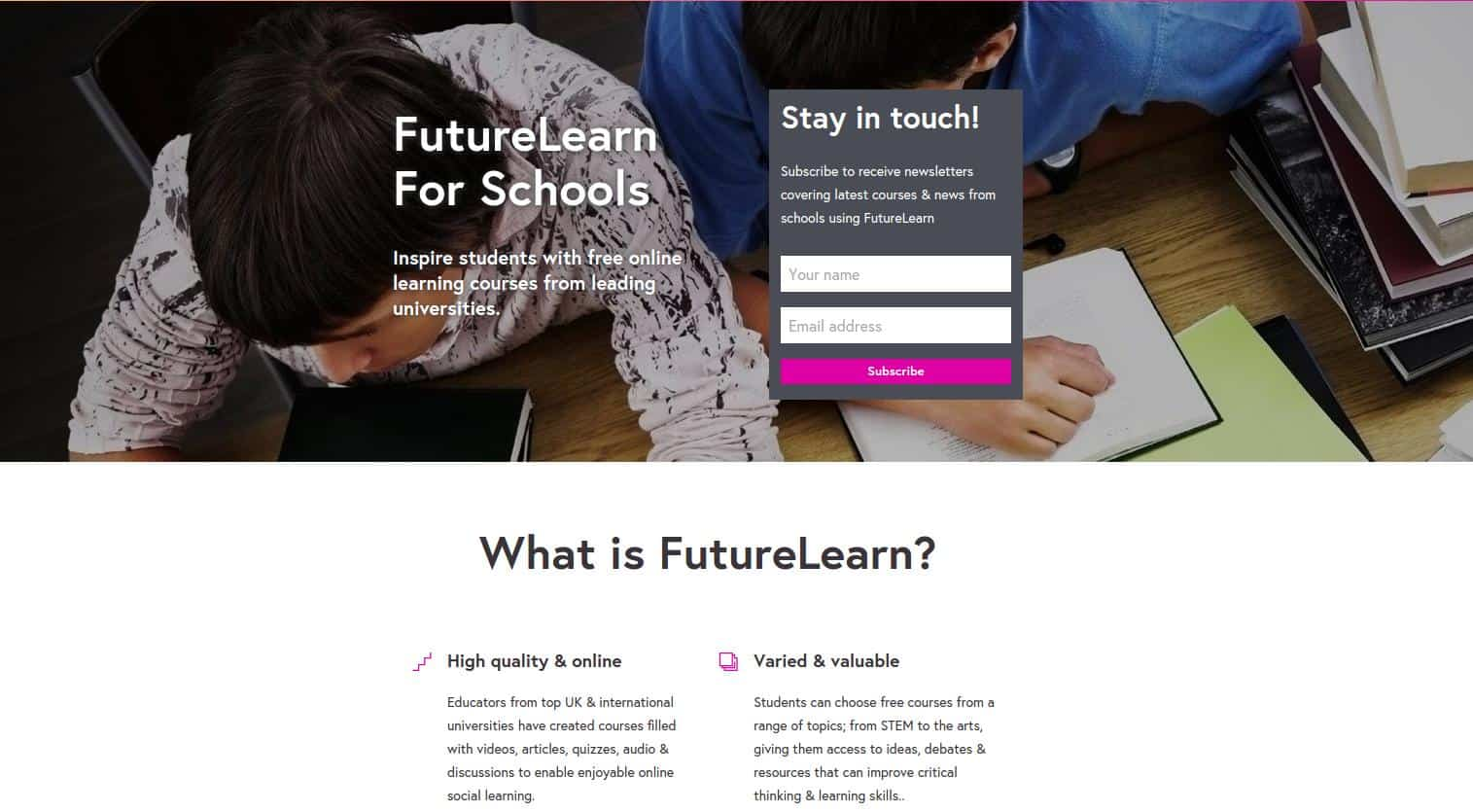FutureLearn for Schools