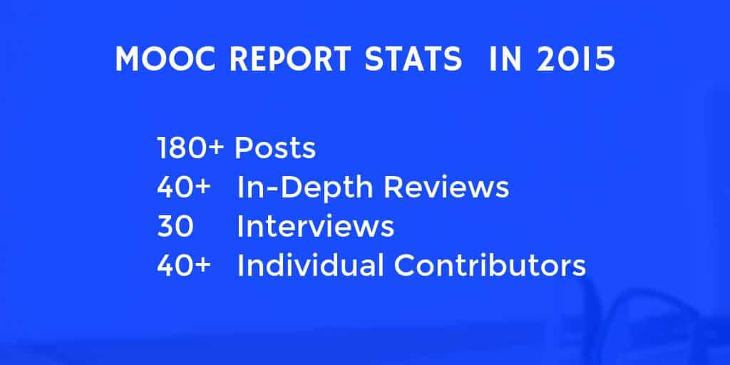 MOOC Report Stats in 2015