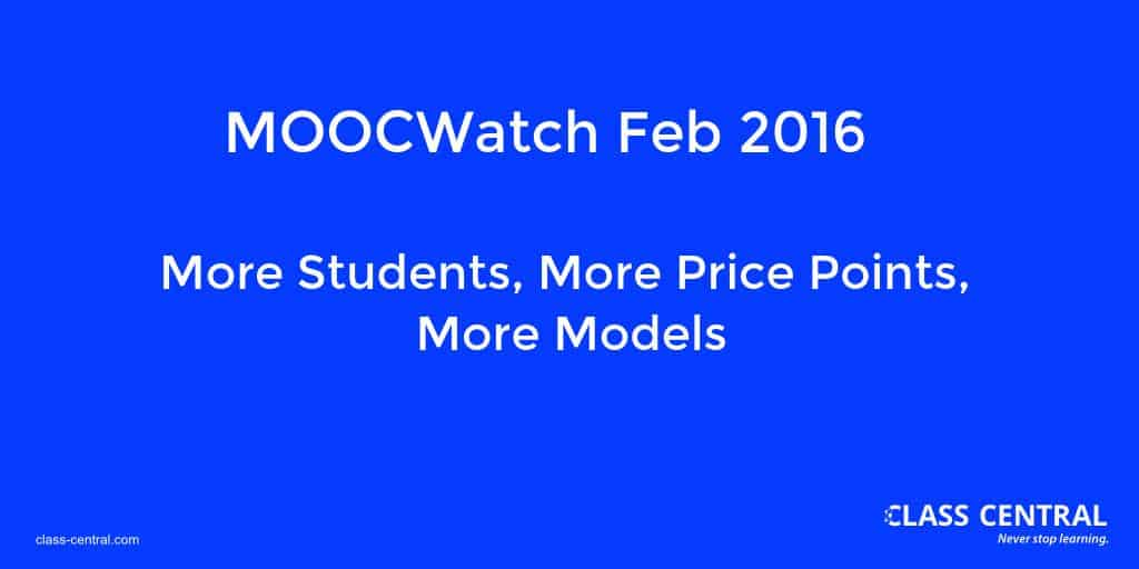 MOOCWatch Feb 2016