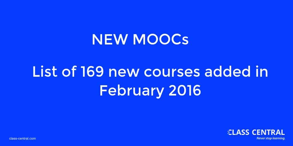 New Courses - February 2016