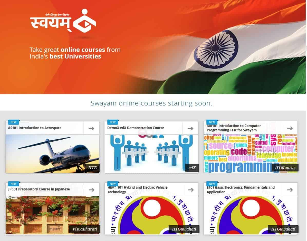 swayam-home-page