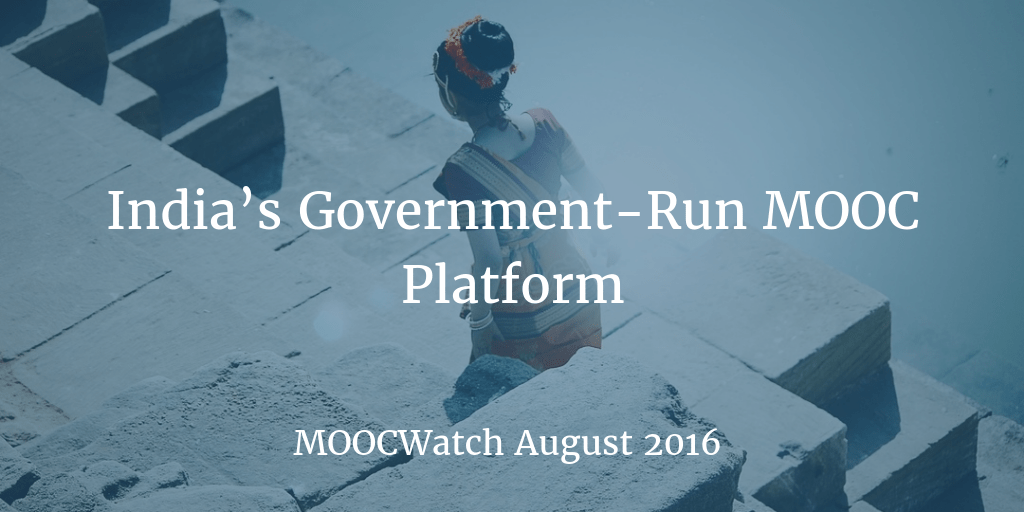 MOOCWatch August 2016