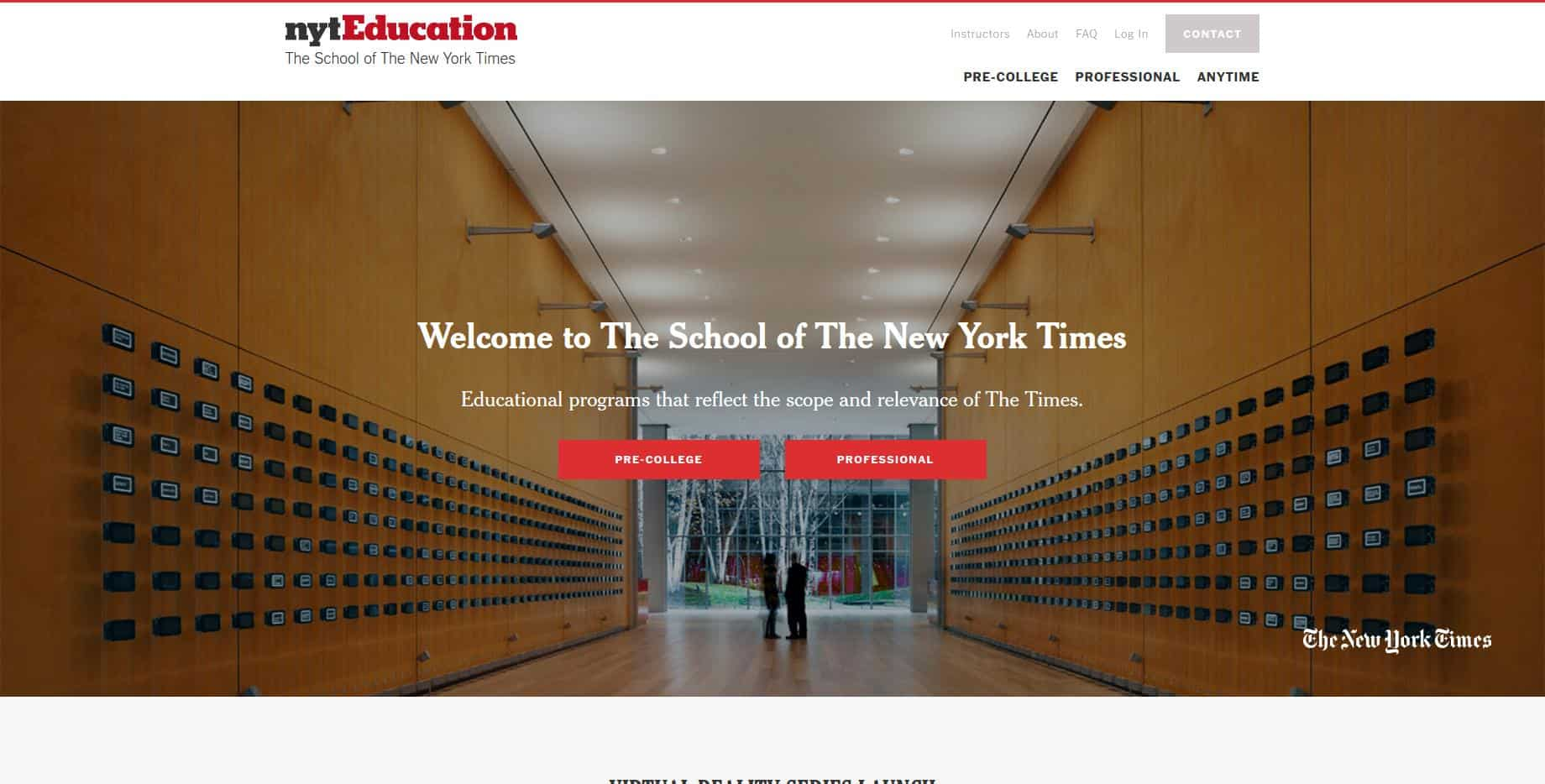 nytEducation The School of The New York Times
