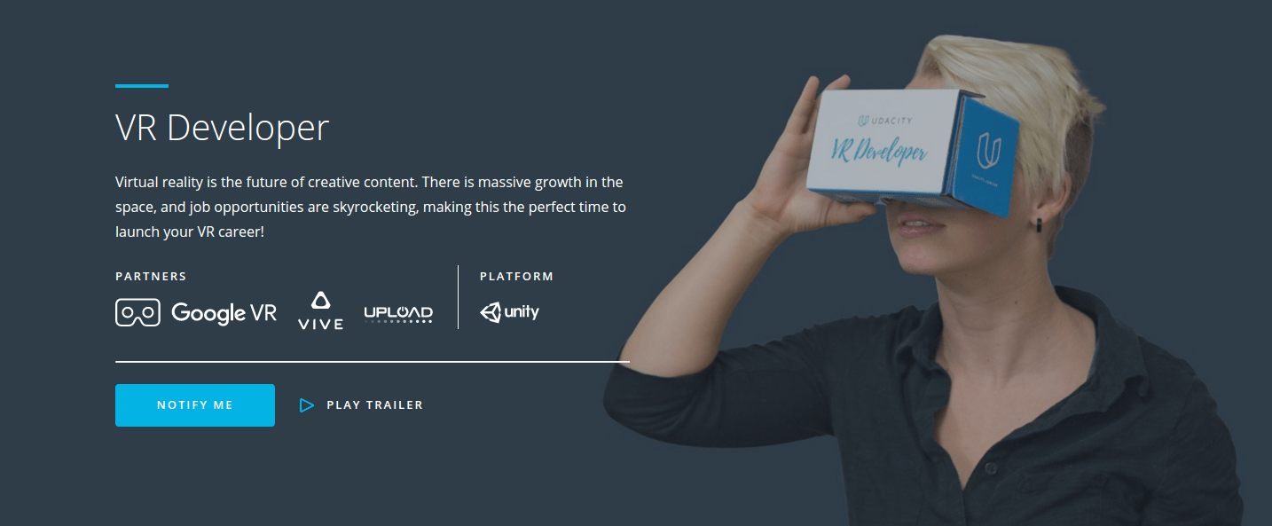 Udacity Launches VR Developer Nanodegree In Partnership With Google