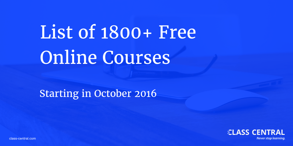 MOOC Course Report October 2016