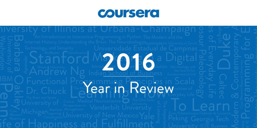 Coursera's 2016 Year in Review