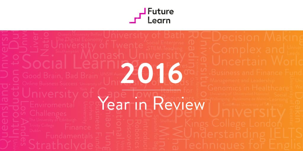 FutureLearn's 2016 Year in Review