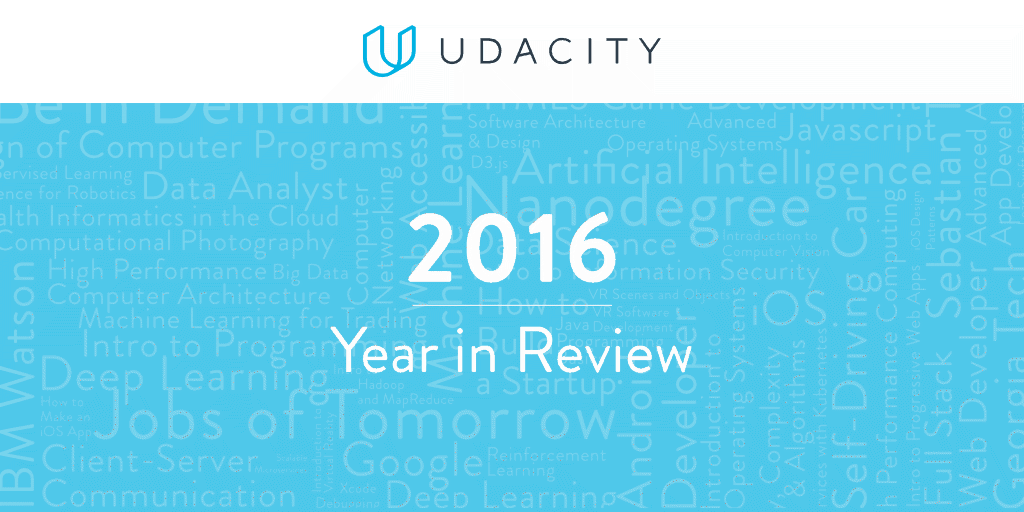 Udacity 2016 Year in Review