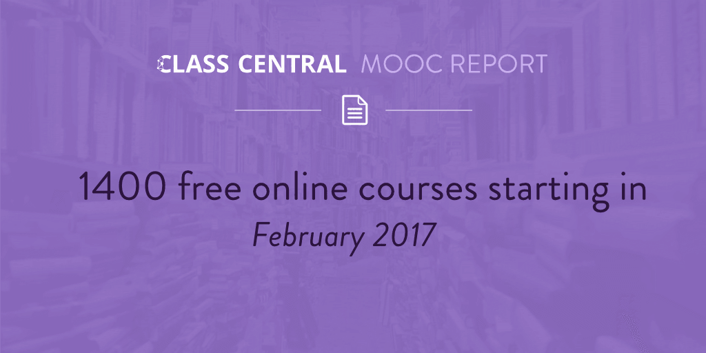 MOOC Course Report February 2017