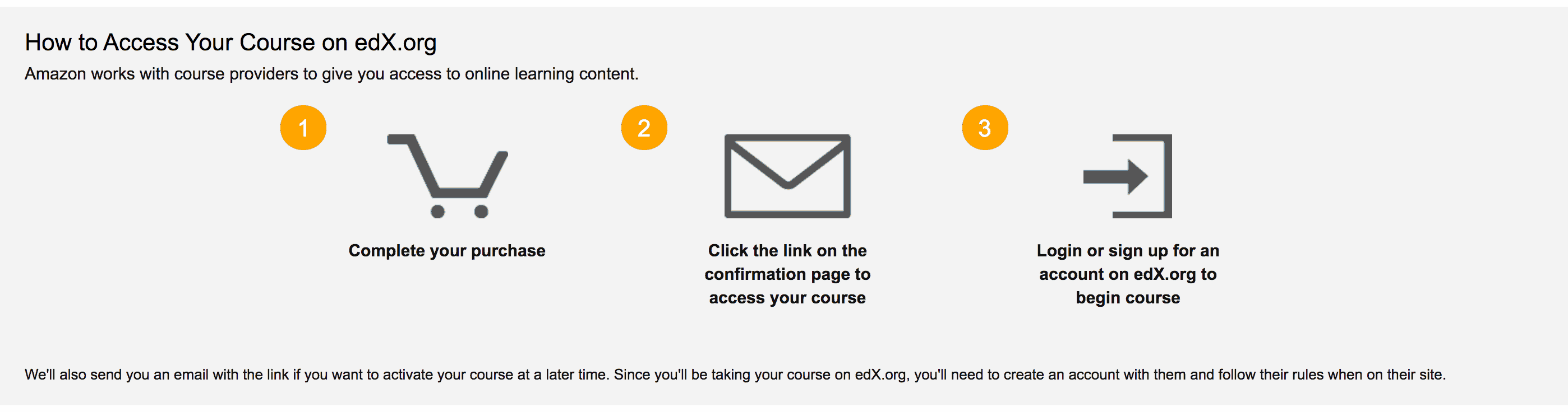 How to Access Your Courses on Amazon