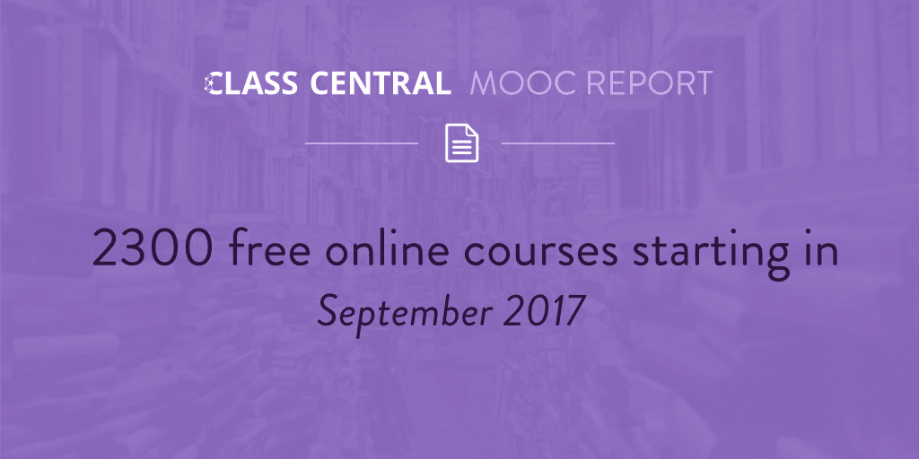 MOOC Course Report - September 2017