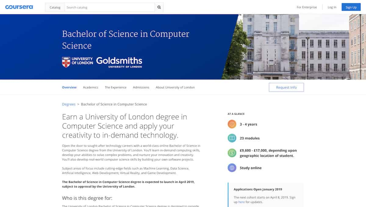 Coursera Launches Six New Degrees Including a Bachelors