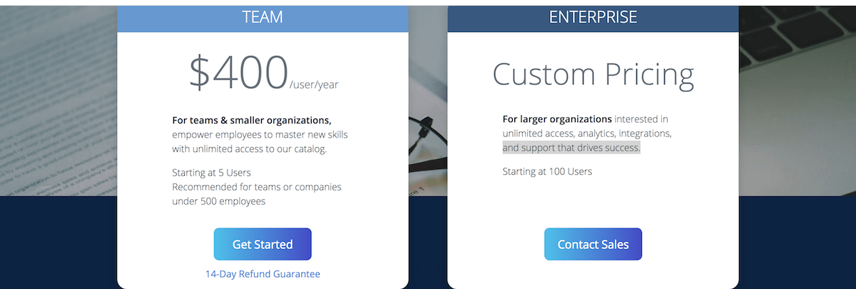 Coursera for Business - Pricing Plans