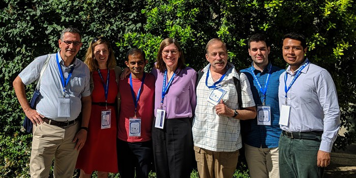 Class Central team and contributors with Barbara Oakley at Learning with MOOCS conference in Madrid.