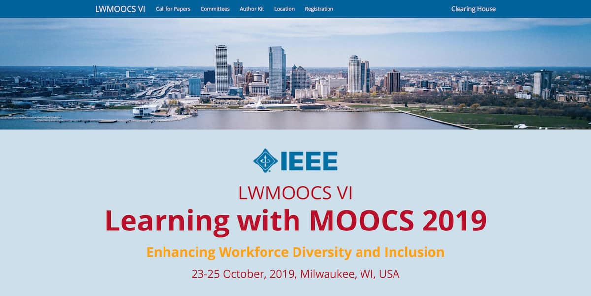 Learning with MOOCs 2019: Abstracts Due May 15 — Class Central