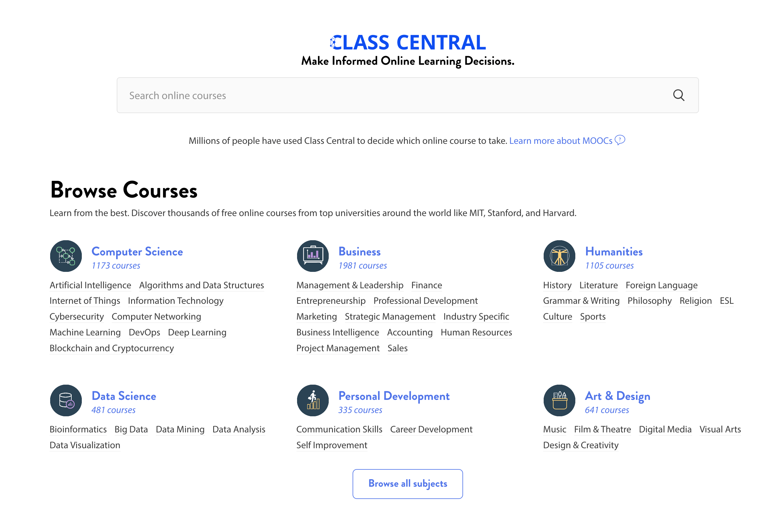 20 New Subjects: Python, Personal Finance, Computer Vision, Sales