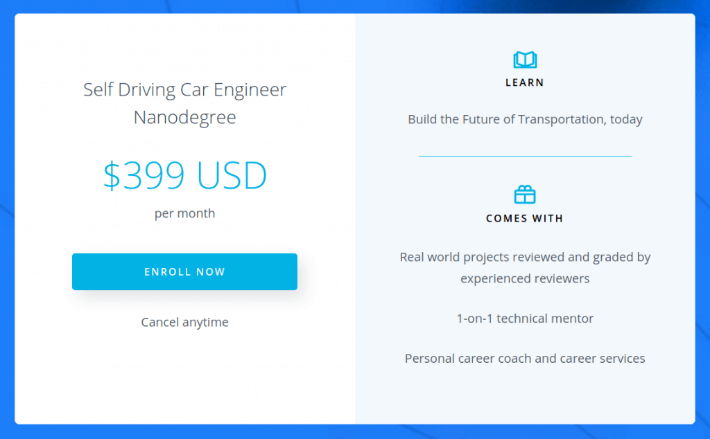 Udacity New $399 Monthly Price