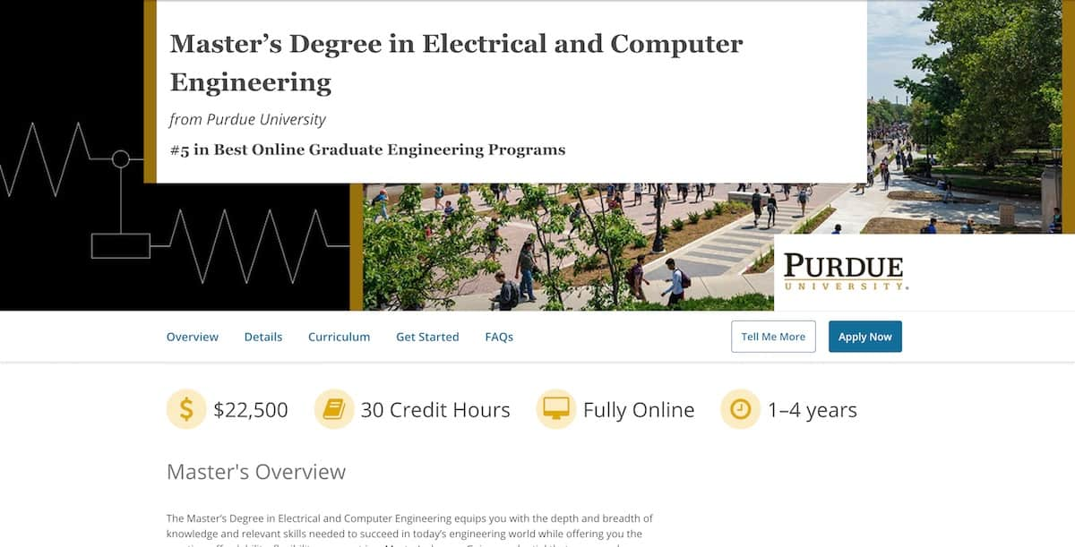 Master's Degree in Electrical and Computer Engineering