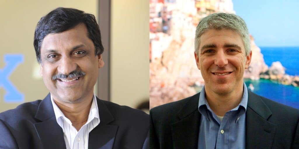 Photo of Anant Agarwal and Adam Medros, edX's co-CEO