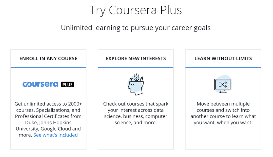Coursera Plus offer