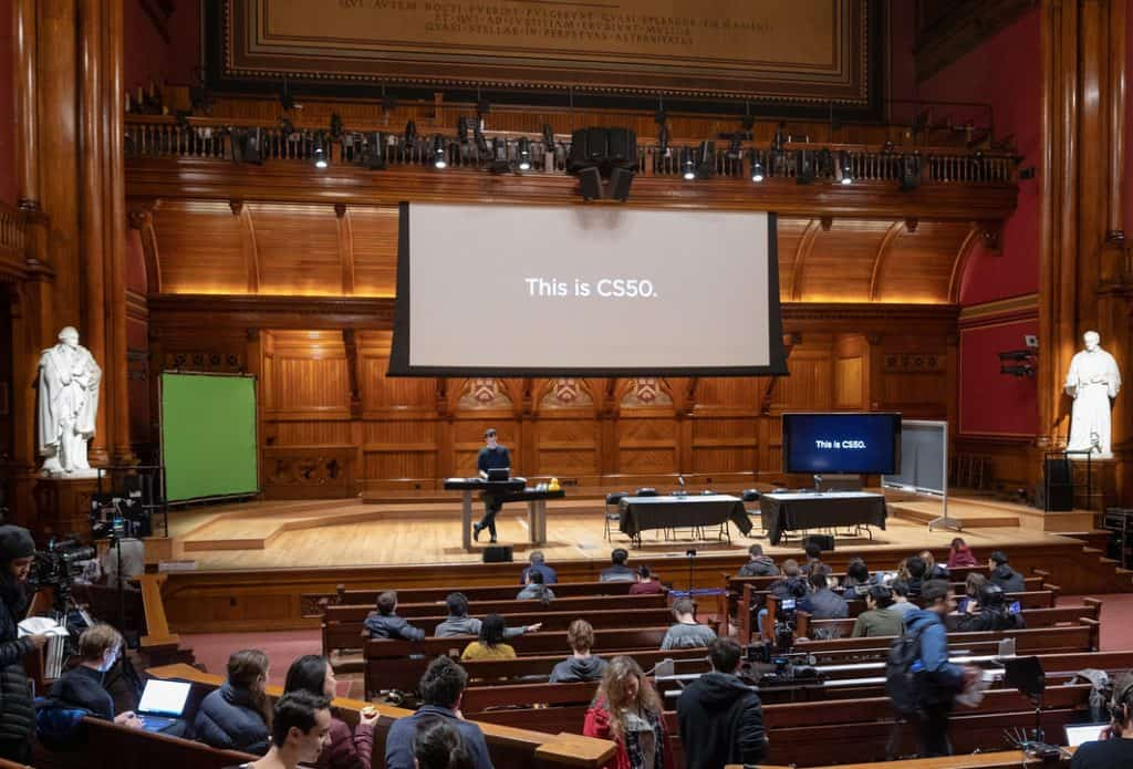 CS50 in Harvard's Sanders Theater