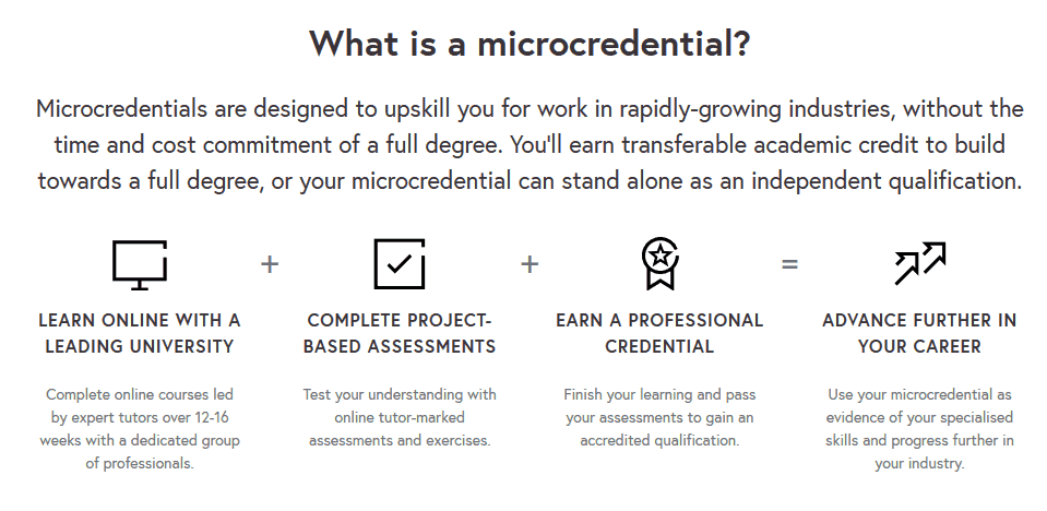 What is a microcredential?