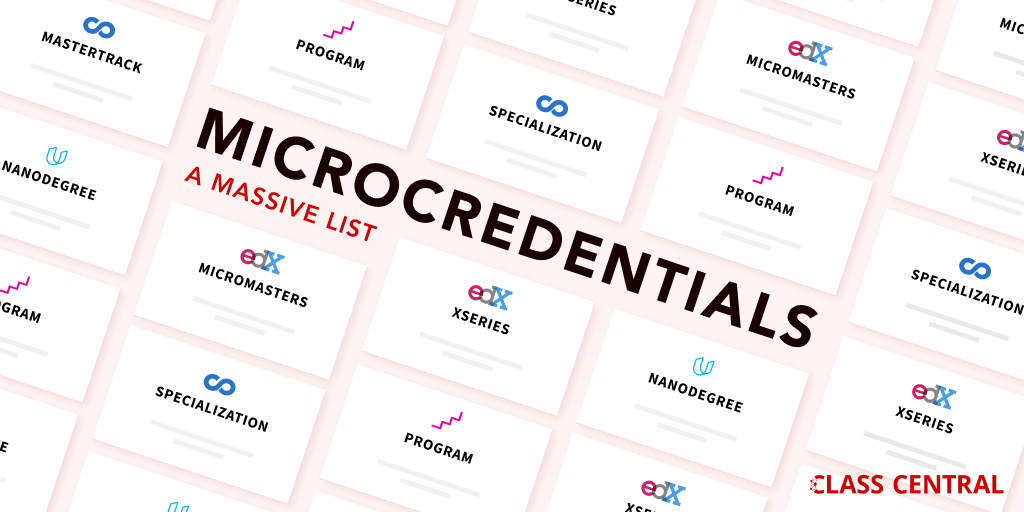 Microcredentials — A Massive List