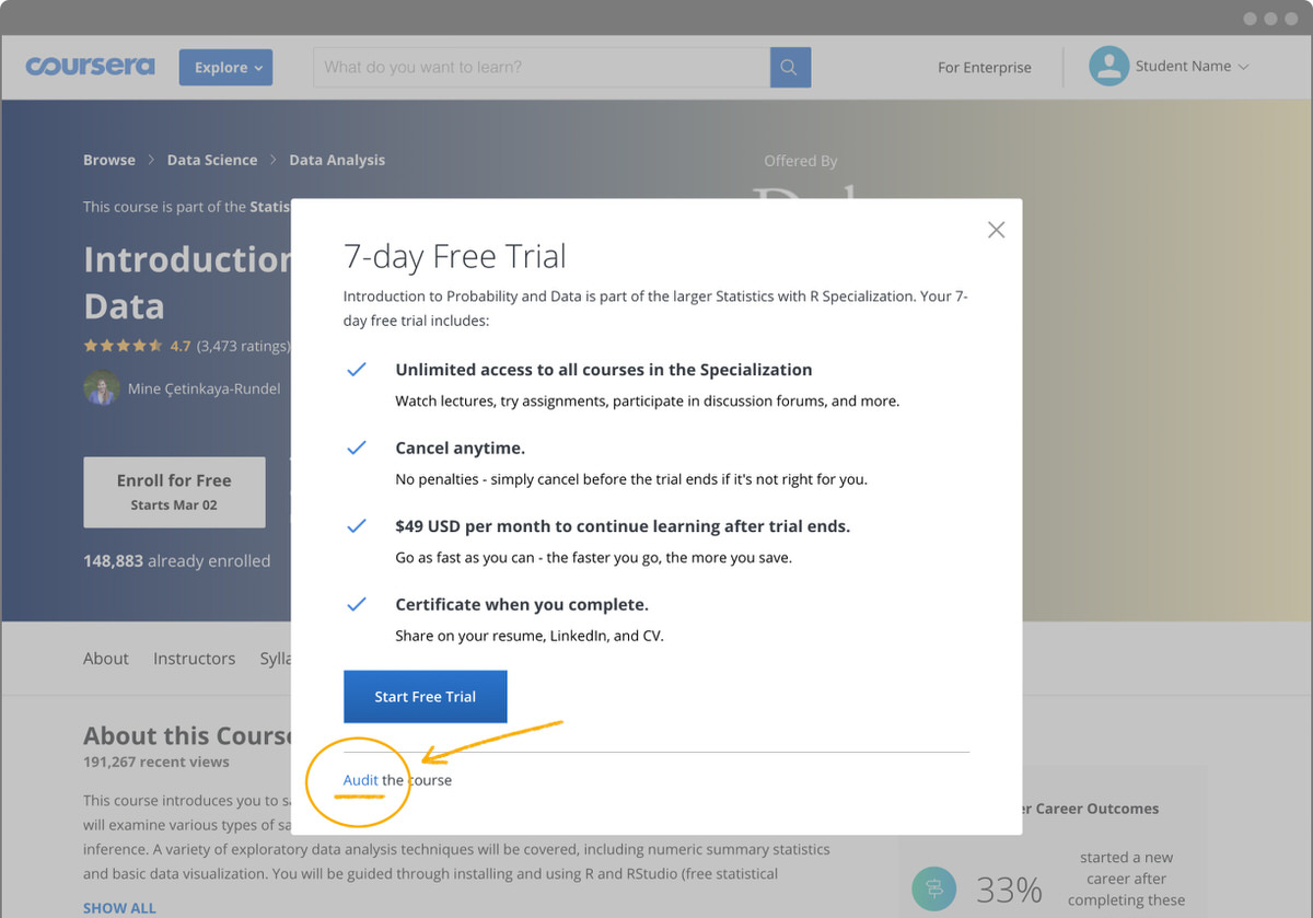 Coursera Screenshot - Audit