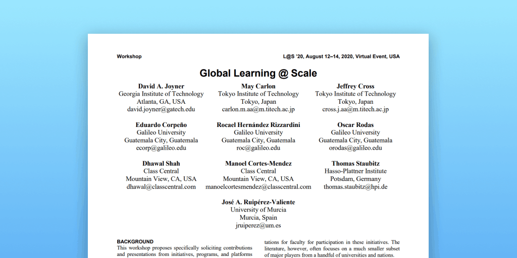 Global Learning @ Scale