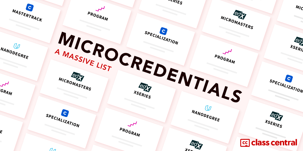 Microcredentials a Massive List