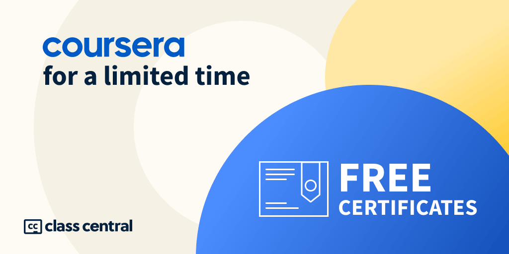 Coursera Free Certificates